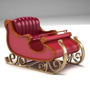 Santa Claus Sleigh 2 3d model