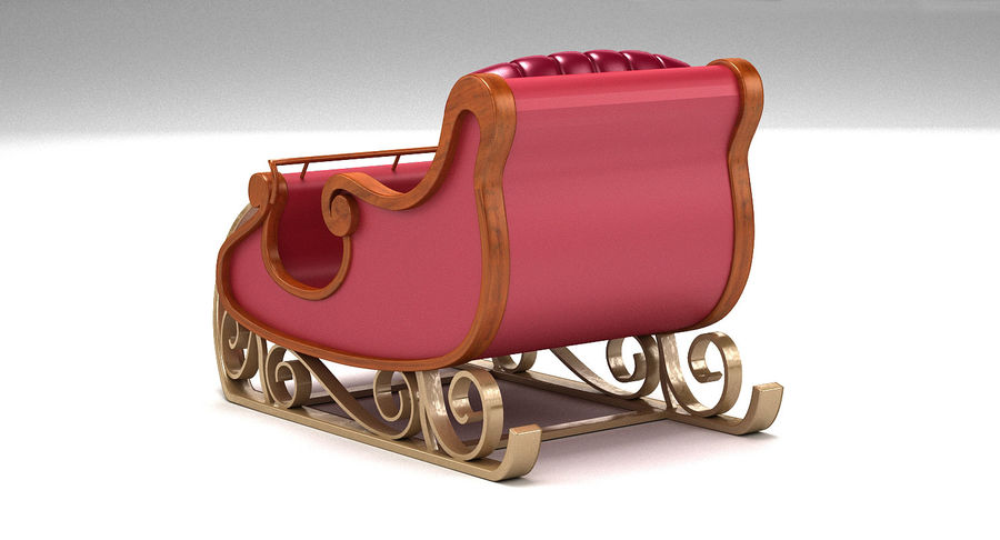 Slitta di Babbo Natale 2 royalty-free 3d model - Preview no. 4