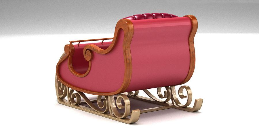サンタクロースのそり2 royalty-free 3d model - Preview no. 4