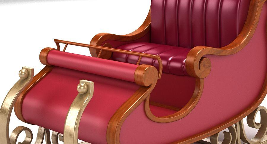 サンタクロースのそり2 royalty-free 3d model - Preview no. 7