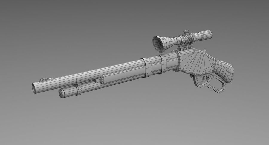 Kapsamlı av tüfeği royalty-free 3d model - Preview no. 7