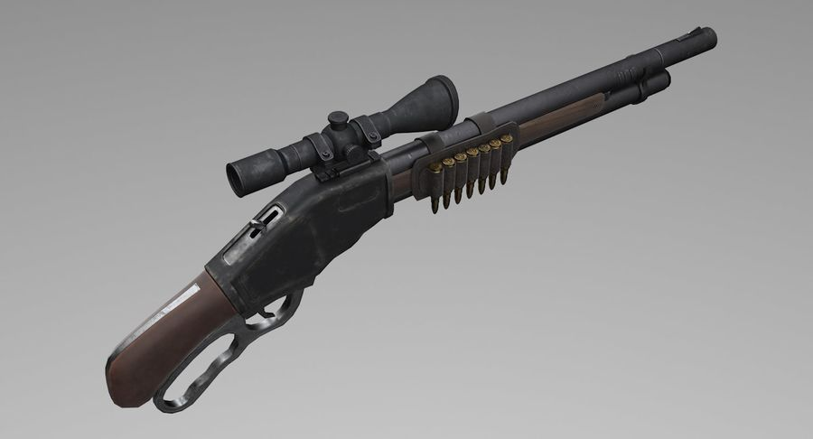 Kapsamlı av tüfeği royalty-free 3d model - Preview no. 5