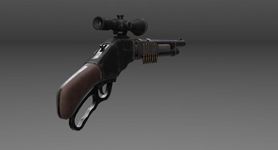 Kapsamlı av tüfeği royalty-free 3d model - Preview no. 4