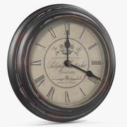 Vintage Wall Clock V1 3d model