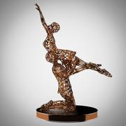 男女舞蹈雕塑01 3d model