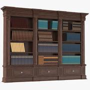 Bücherregal Mit Büchern 3d model