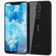 Nokia 8.1 (Nokia 7X) Nero 3d model