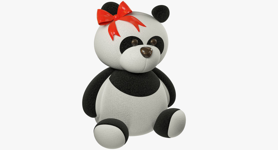 Urso de pelúcia Panda royalty-free 3d model - Preview no. 2