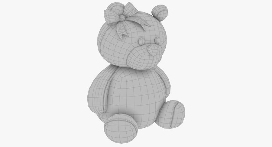 Urso de pelúcia Panda royalty-free 3d model - Preview no. 14