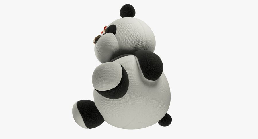 Urso de pelúcia Panda royalty-free 3d model - Preview no. 13