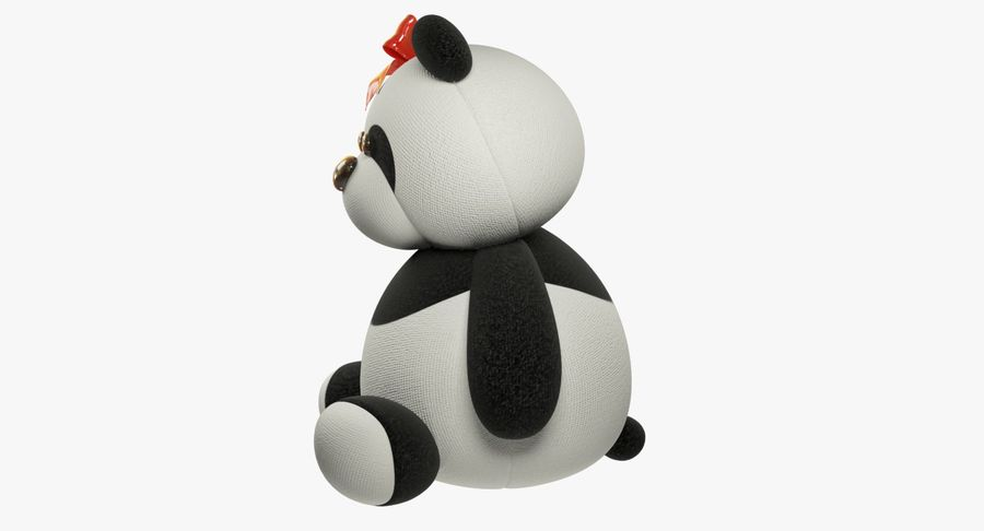 Urso de pelúcia Panda royalty-free 3d model - Preview no. 6
