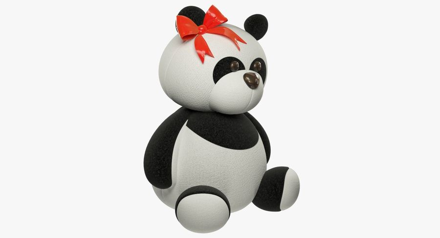 Urso de pelúcia Panda royalty-free 3d model - Preview no. 11