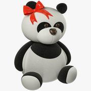 Urso de pelúcia Panda 3d model
