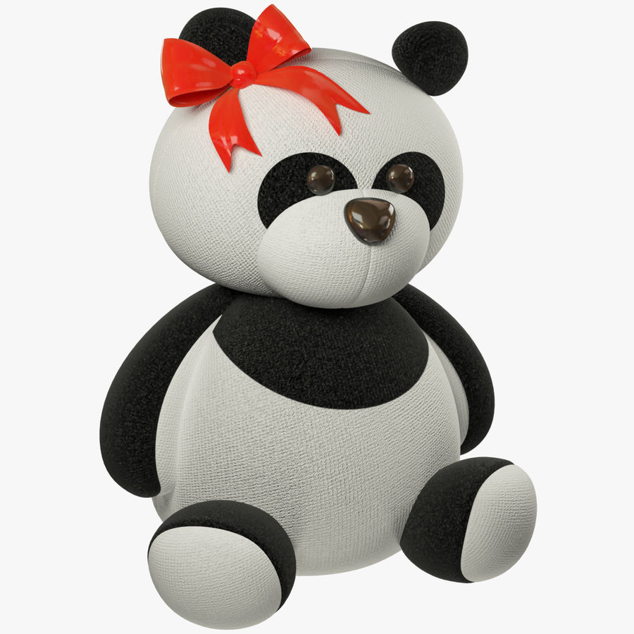 Urso de pelúcia Panda royalty-free 3d model - Preview no. 1