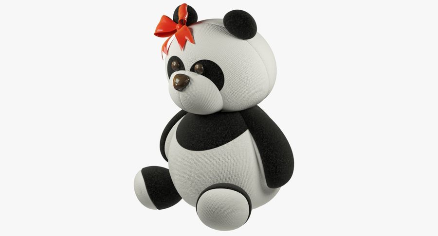 Urso de pelúcia Panda royalty-free 3d model - Preview no. 5