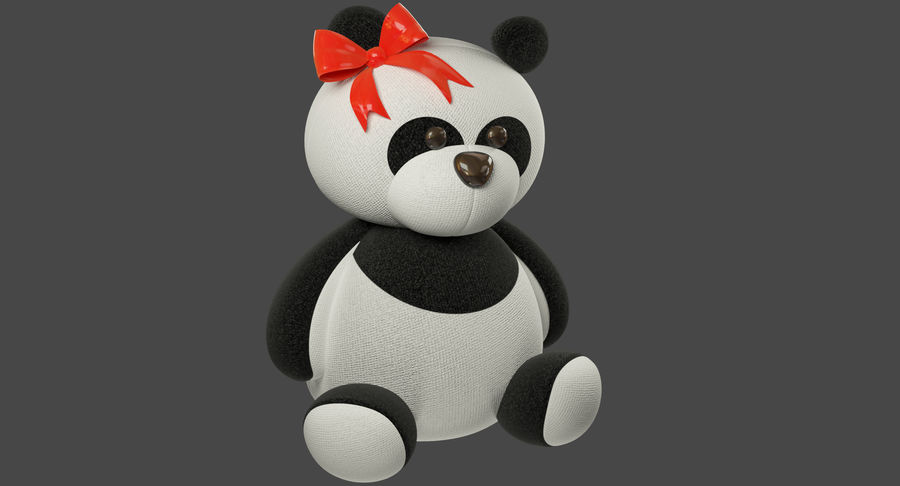 Urso de pelúcia Panda royalty-free 3d model - Preview no. 3
