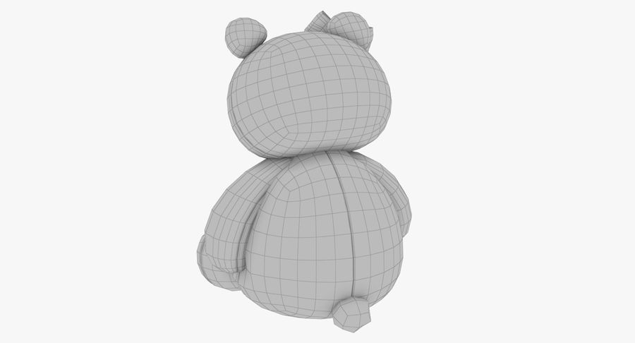 Urso de pelúcia Panda royalty-free 3d model - Preview no. 15