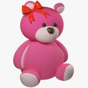 핑크 테디 베어 3d model