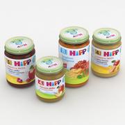 Collection de pots de nourriture pour bébé Hipp 3d model