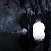 물 동굴 3d model