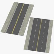 Lane Streets Straight 3d model