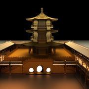Kinesiskt torn 3d model