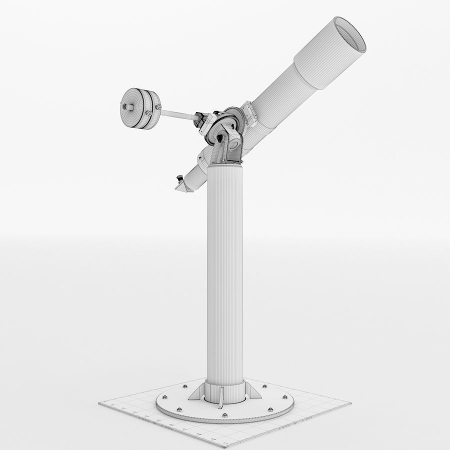 Telescope royalty-free 3d model - Preview no. 21