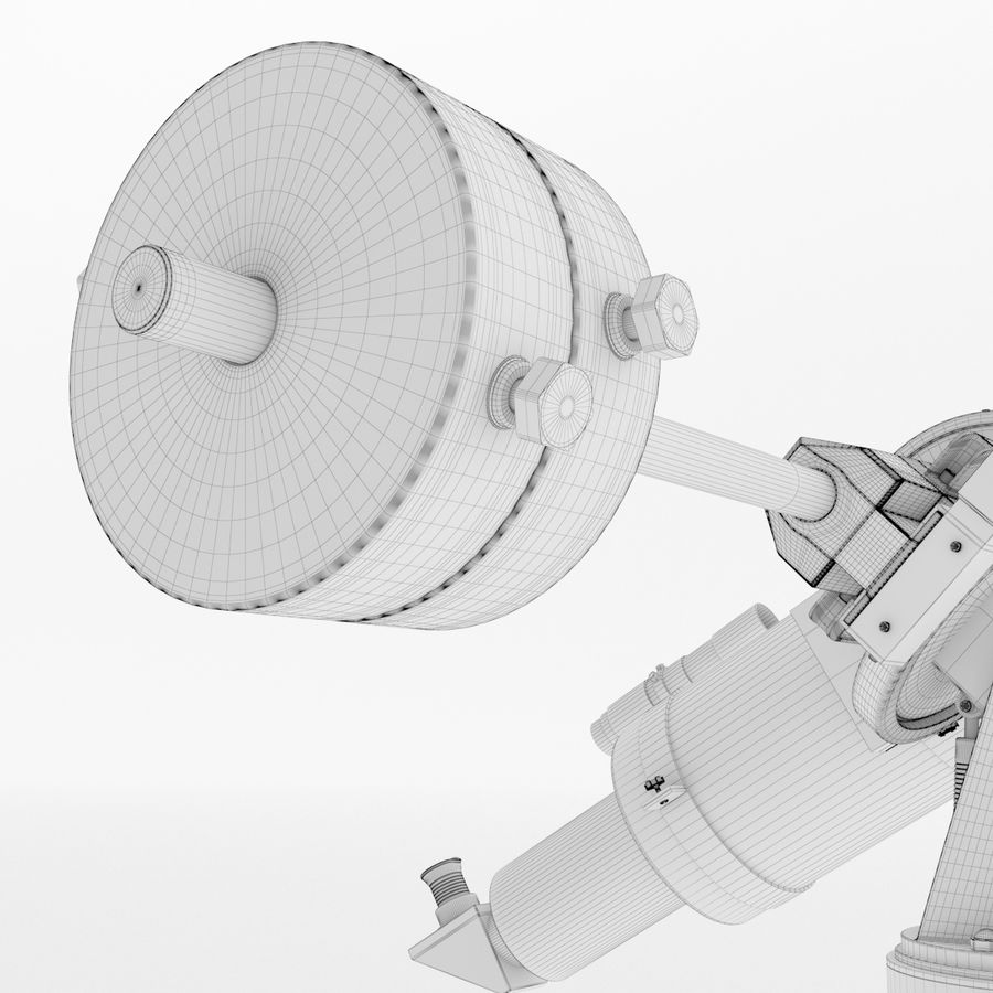 Telescope royalty-free 3d model - Preview no. 23