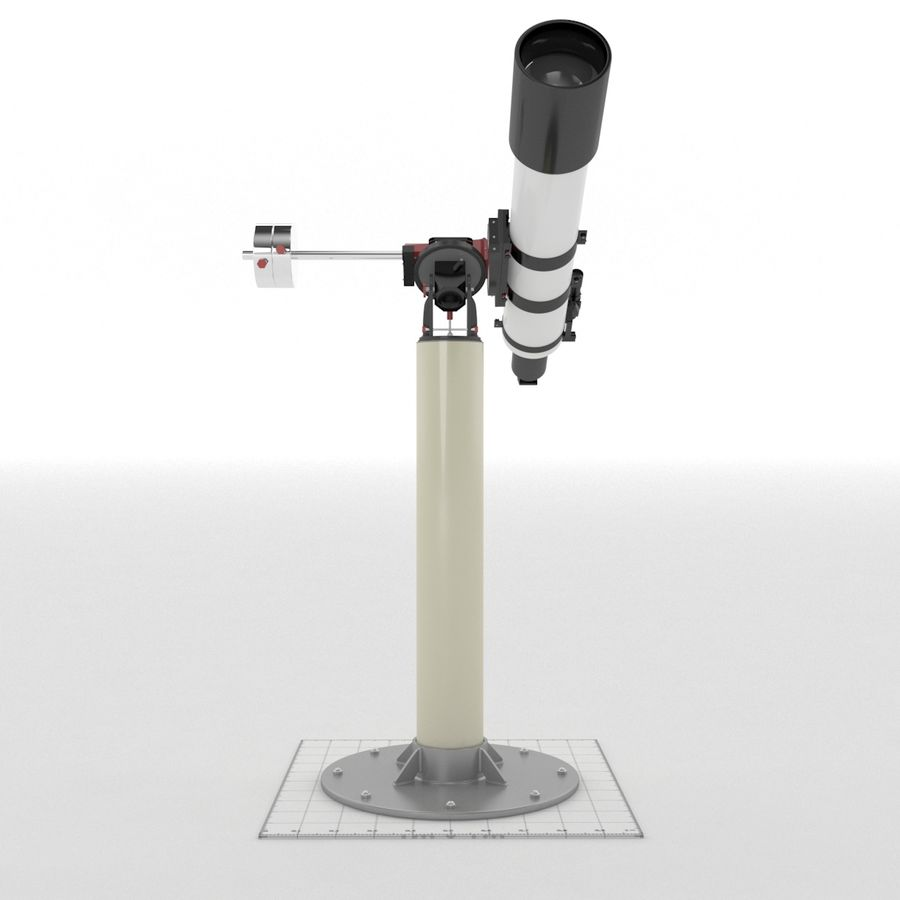 Telescope royalty-free 3d model - Preview no. 5