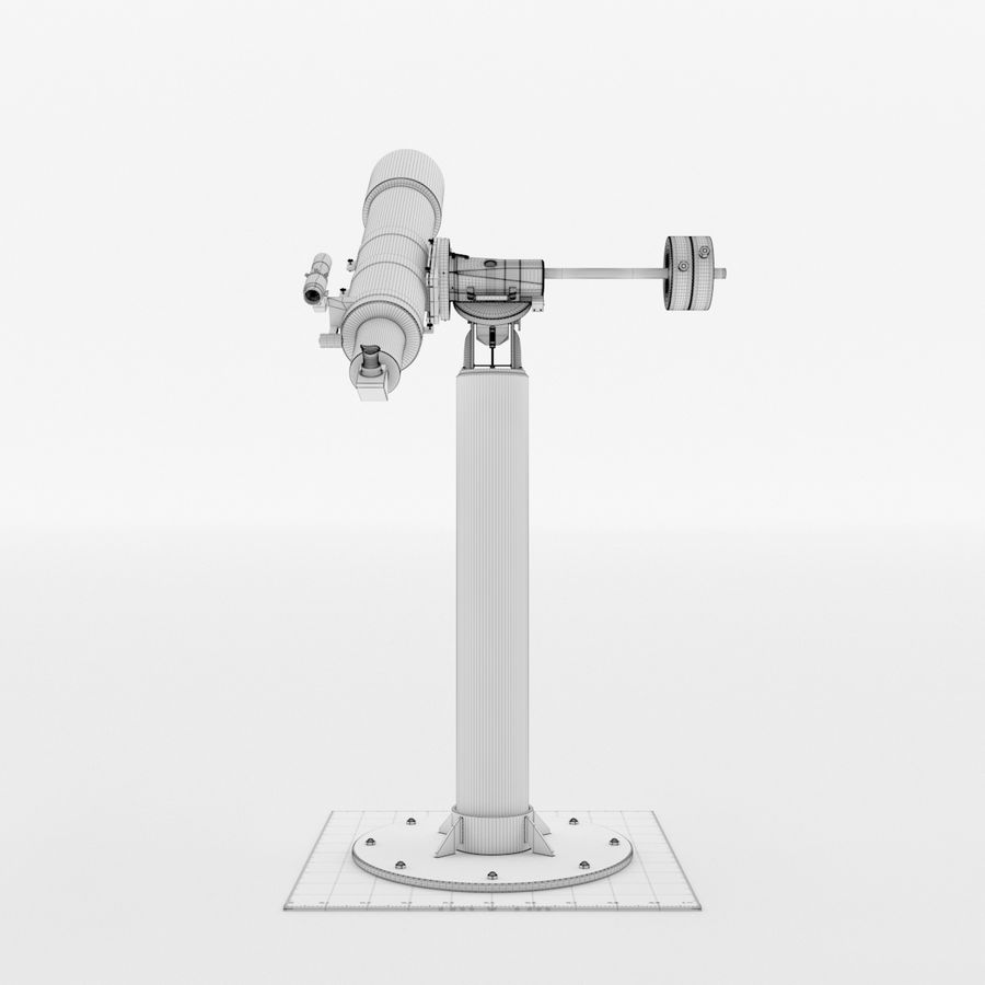 Telescope royalty-free 3d model - Preview no. 18