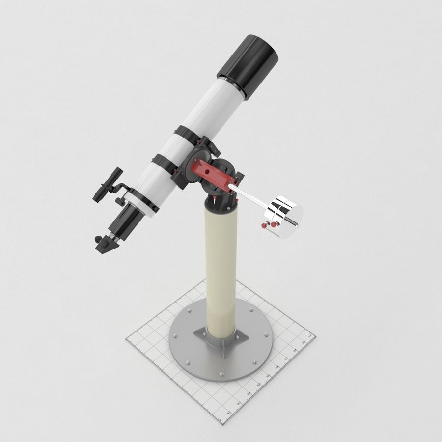 Telescope royalty-free 3d model - Preview no. 7