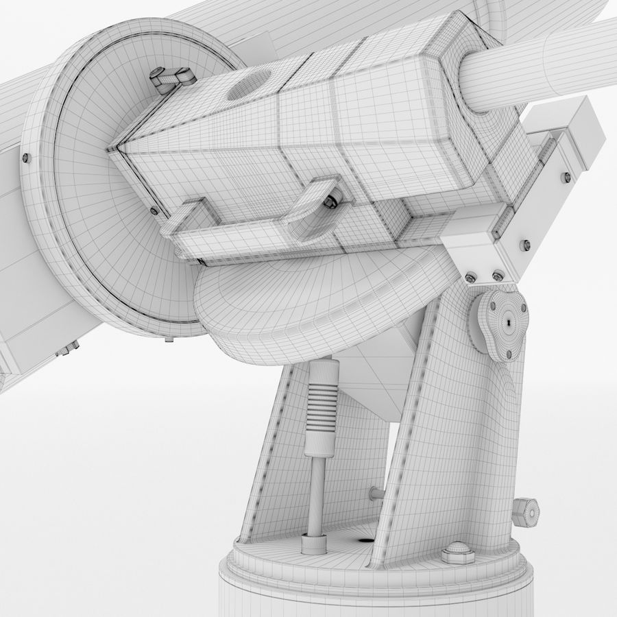 Telescope royalty-free 3d model - Preview no. 24