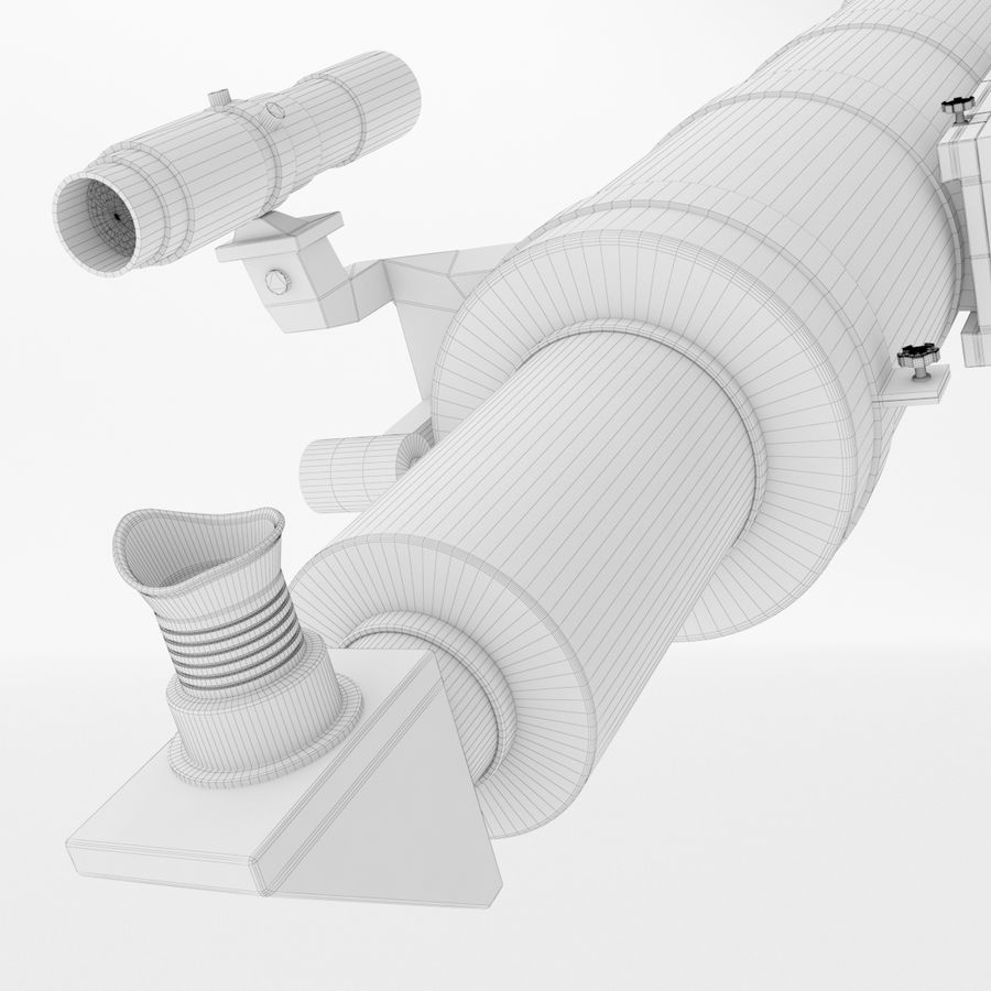 Telescope royalty-free 3d model - Preview no. 28