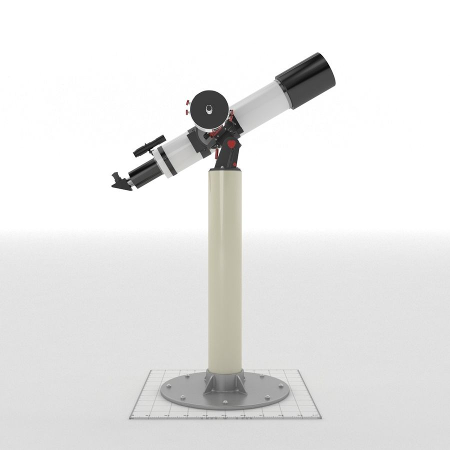 Telescope royalty-free 3d model - Preview no. 2