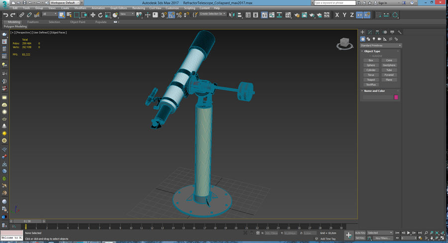 Telescope royalty-free 3d model - Preview no. 32