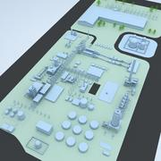 Factory & Industrial Facility Layout 3 3d model