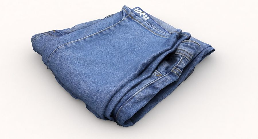 Jeans royalty-free 3d model - Preview no. 9
