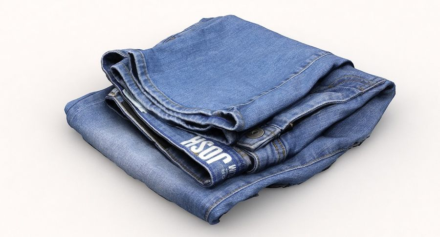 Jeans royalty-free 3d model - Preview no. 12