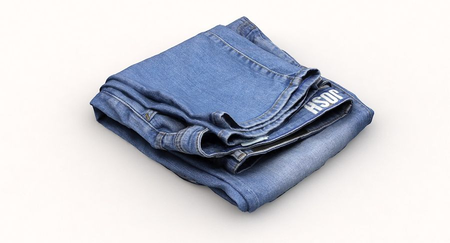 Jeans royalty-free 3d model - Preview no. 7