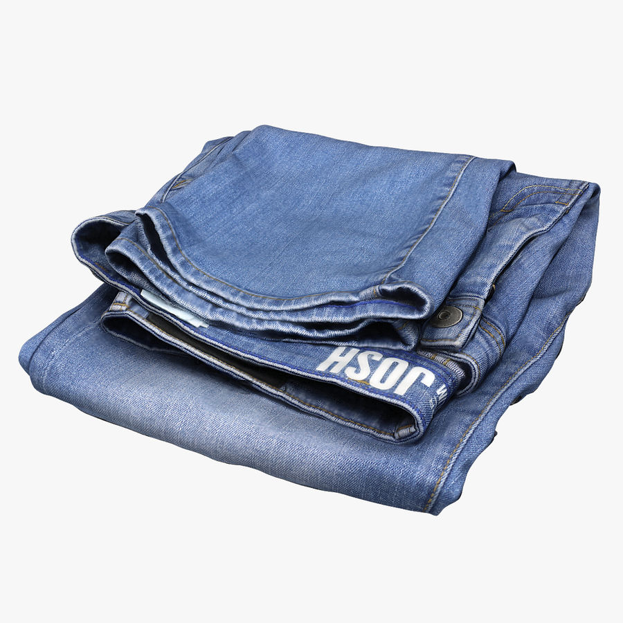 Jeans royalty-free 3d model - Preview no. 1