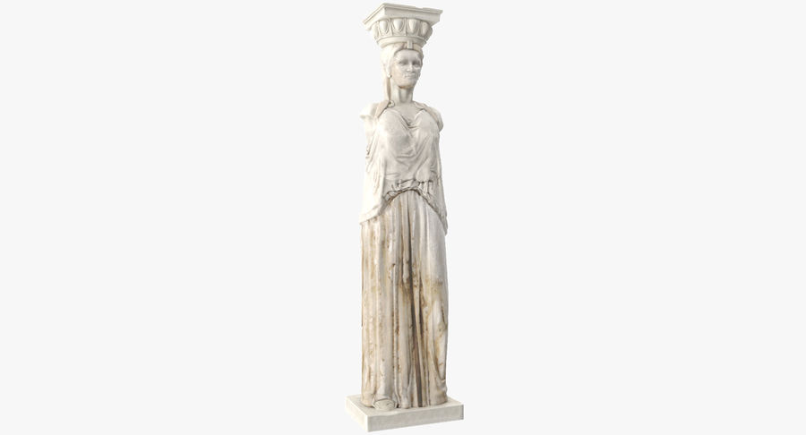 Caryatid royalty-free 3d model - Preview no. 8