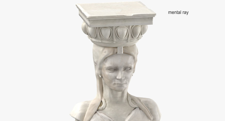 Caryatid royalty-free 3d model - Preview no. 14