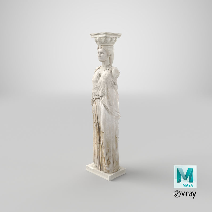 Caryatid royalty-free 3d model - Preview no. 25