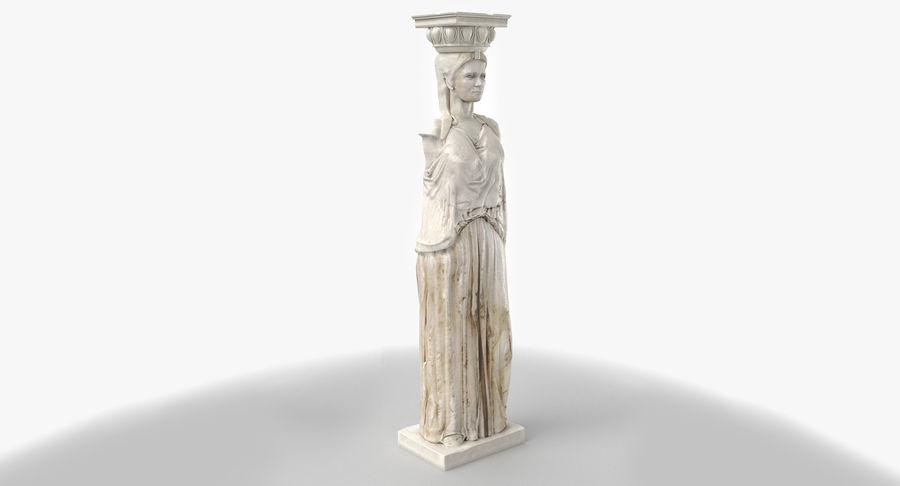 Caryatid royalty-free 3d model - Preview no. 4