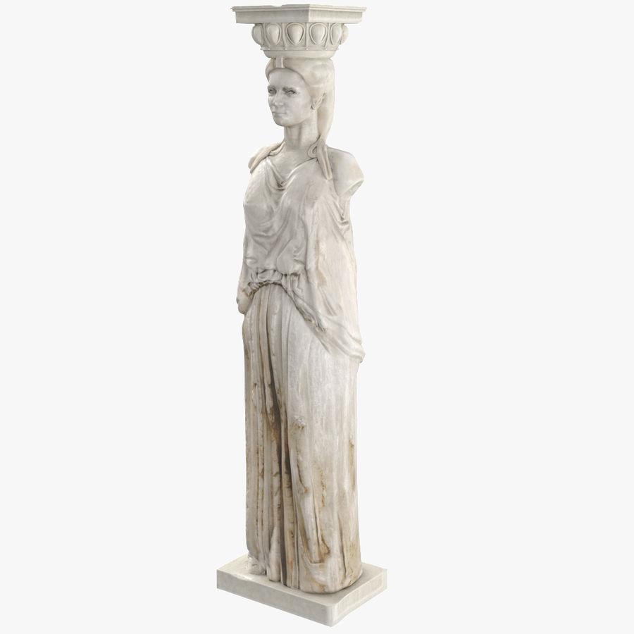 Caryatid royalty-free 3d model - Preview no. 1