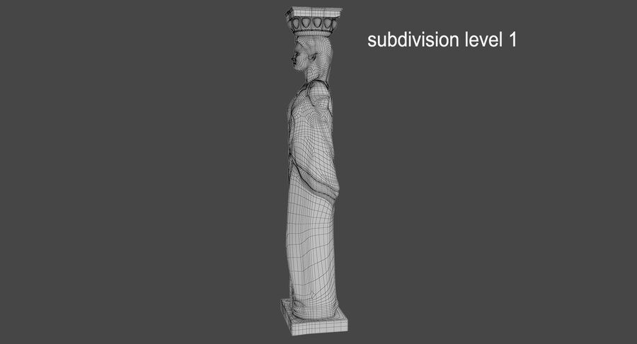 Caryatid royalty-free 3d model - Preview no. 20