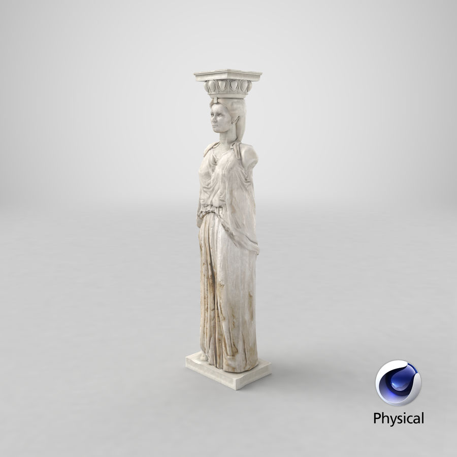 Caryatid royalty-free 3d model - Preview no. 29
