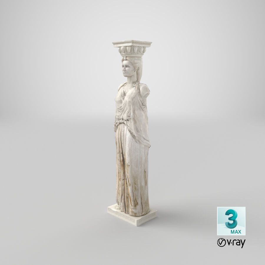 Caryatid royalty-free 3d model - Preview no. 27