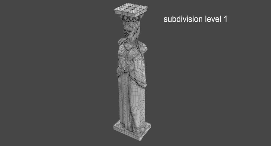 Caryatid royalty-free 3d model - Preview no. 17