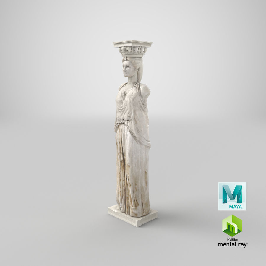 Caryatid royalty-free 3d model - Preview no. 26